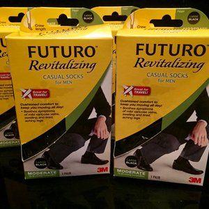 Futuro Revitalizing Compression Socks 4 Pair